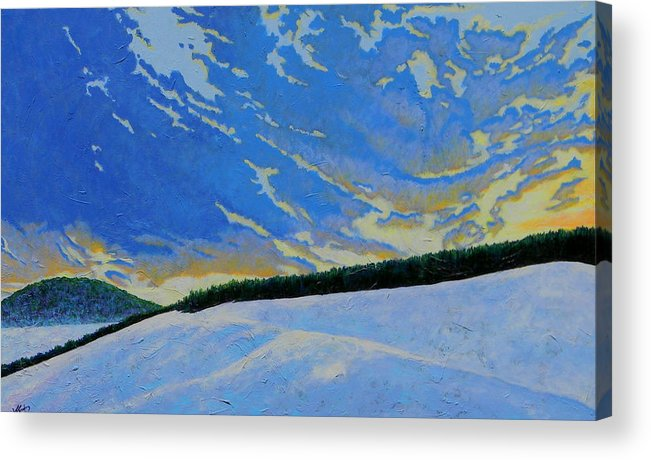 Nature Acrylic Print featuring the painting Winters Morning Magic by Joe Triano