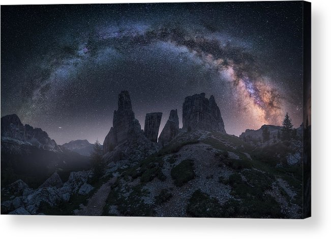 Milkyway Acrylic Print featuring the photograph Art Of Night II by Carlos F. Turienzo