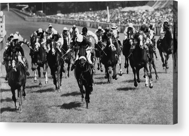 Horse Acrylic Print featuring the photograph Goodwood Race by Evening Standard