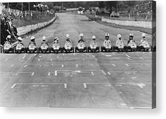 Formula One Grand Prix Acrylic Print featuring the photograph Junior Grand Prix by Central Press