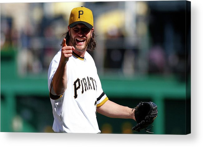 Ninth Inning Acrylic Print featuring the photograph Jason Grilli by Justin K. Aller