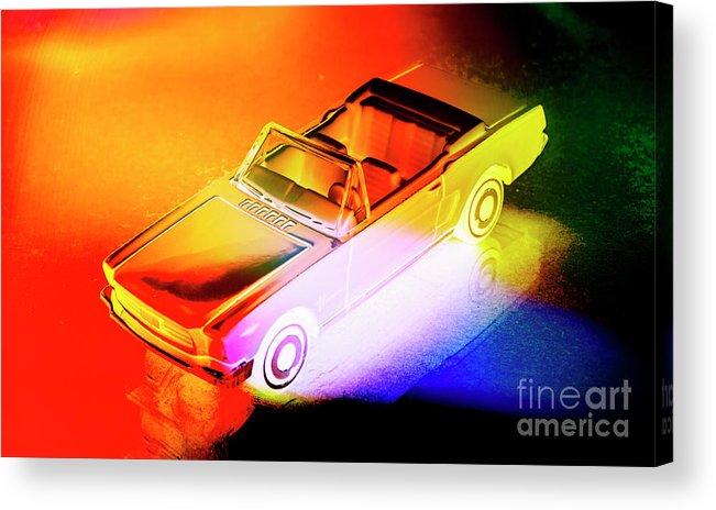 Neon Acrylic Print featuring the photograph Neon Drives by Jorgo Photography - Wall Art Gallery