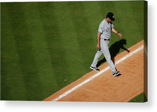 Robin Ventura Acrylic Print featuring the photograph Robin Ventura by Scott Halleran