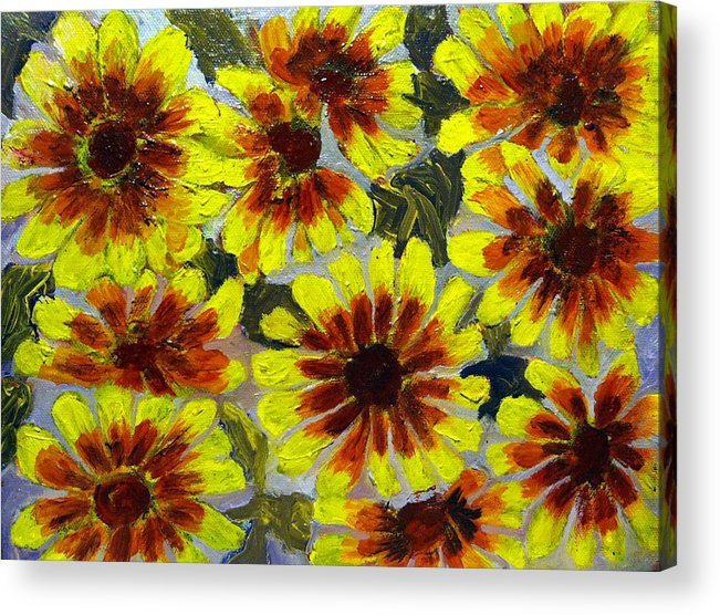Acrylic Print featuring the painting Flowers by Don Thibodeaux