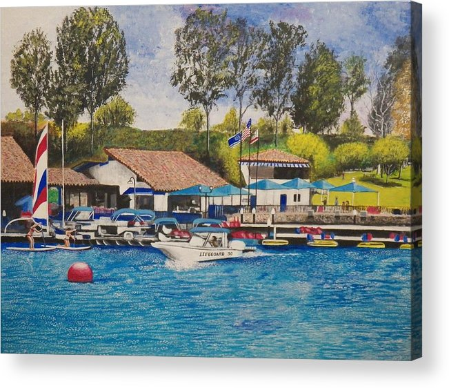 Water Acrylic Print featuring the painting Lake Mission Viejo by Jim Reale