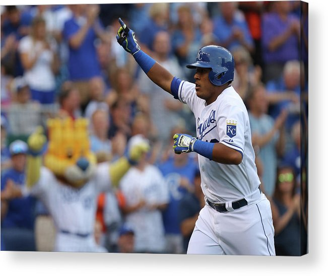 Second Inning Acrylic Print featuring the photograph Los Angeles Dodgers V Kansas City Royals by Ed Zurga