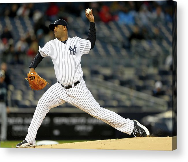 American League Baseball Acrylic Print featuring the photograph Seattle Mariners V New York Yankees by Elsa