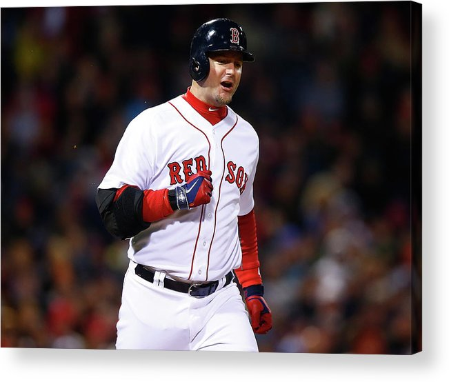 American League Baseball Acrylic Print featuring the photograph Tampa Bay Rays V Boston Red Sox by Jared Wickerham