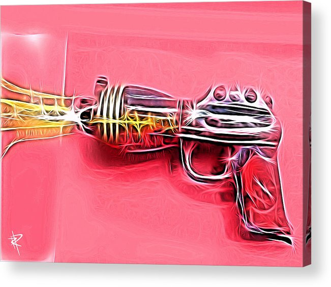 Ray Gun Acrylic Print featuring the mixed media ZAP by Russell Pierce