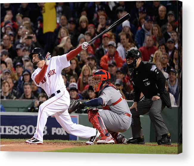 St. Louis Cardinals Acrylic Print featuring the photograph 2013 World Series Game 2 St. Louis by Ron Vesely