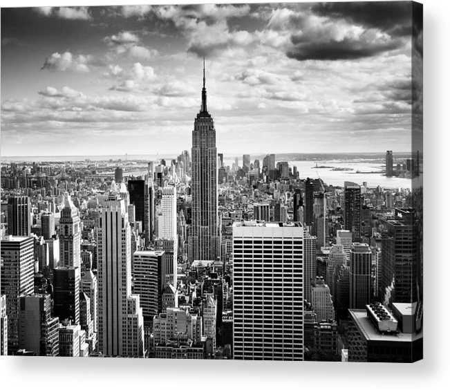 Nyc Acrylic Print featuring the photograph NYC Downtown by Nina Papiorek