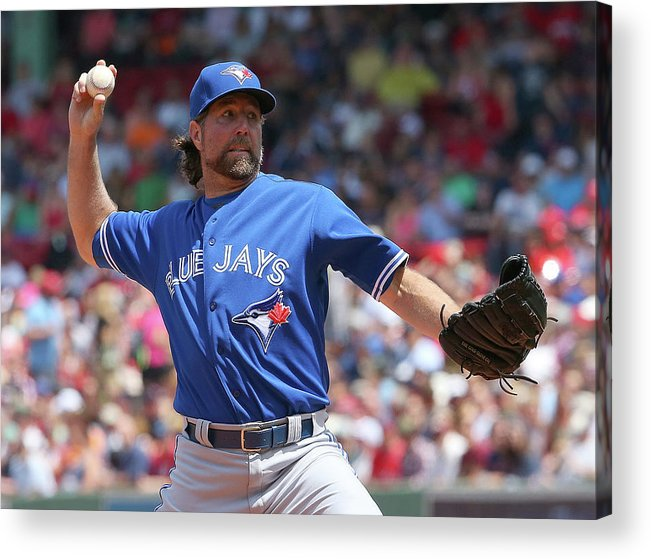 Three Quarter Length Acrylic Print featuring the photograph Toronto Blue Jays V Boston Red Sox by Jim Rogash