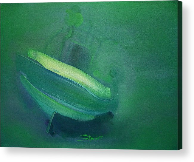 Fishing Boat Acrylic Print featuring the painting Alvor Working Boat by Charles Stuart