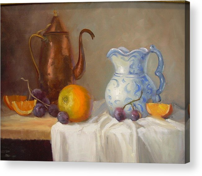 Acrylic Print featuring the painting Antique Pitcher by Naomi Dixon