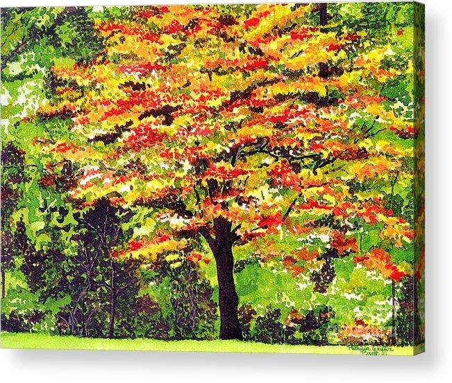 Fine Art Acrylic Print featuring the painting Autumn Splendor by Patricia Griffin Brett