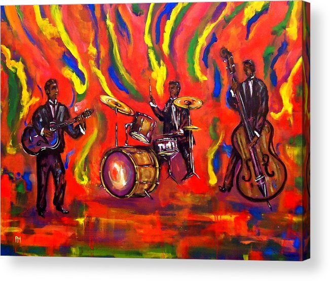 Music Acrylic Print featuring the painting Devils Music by Pete Maier