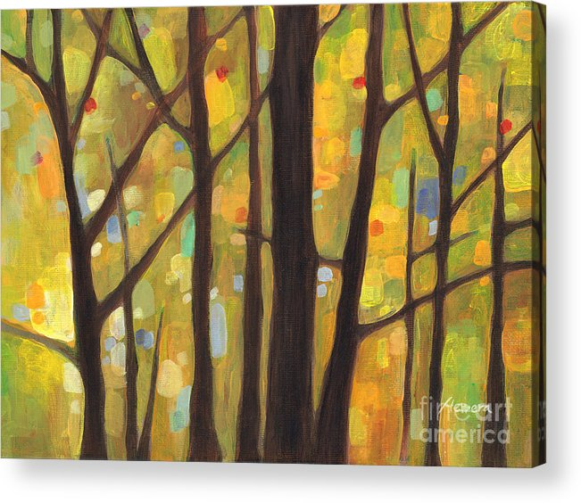 Dreaming Acrylic Print featuring the painting Dreaming Trees 1 by Hailey E Herrera
