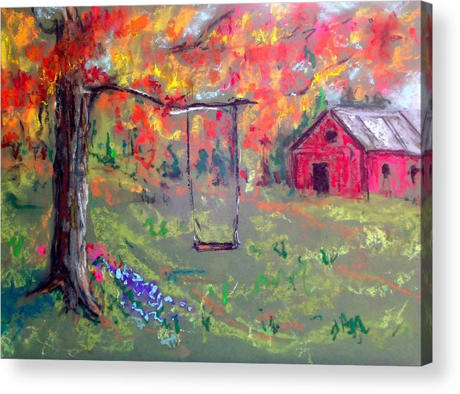 Fall Foliage Acrylic Print featuring the painting Fall Scene 14 by Pete Maier
