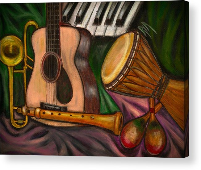 Music Acrylic Print featuring the photograph Grand POP by Artist RiA