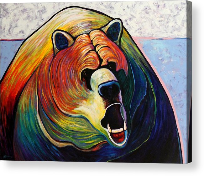 Wildlife Acrylic Print featuring the painting He Who Greets with Fire by Joe Triano
