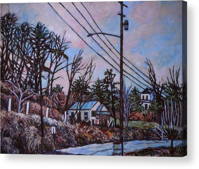 Houses Acrylic Print featuring the painting Houses in Pulaski by Kendall Kessler
