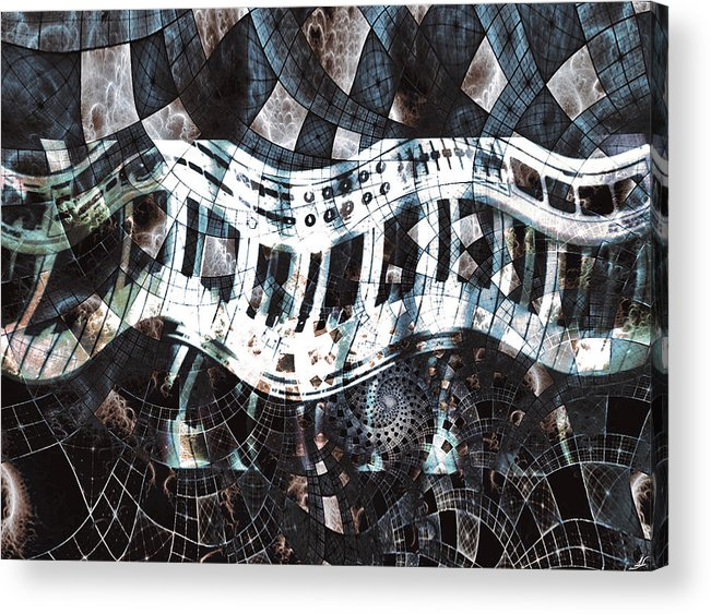 Key Patterns Acrylic Print featuring the photograph Key Patterns by Linda Sannuti