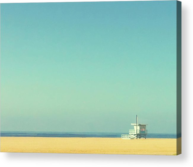 Tranquility Acrylic Print featuring the photograph Life Guard Tower by Denise Taylor