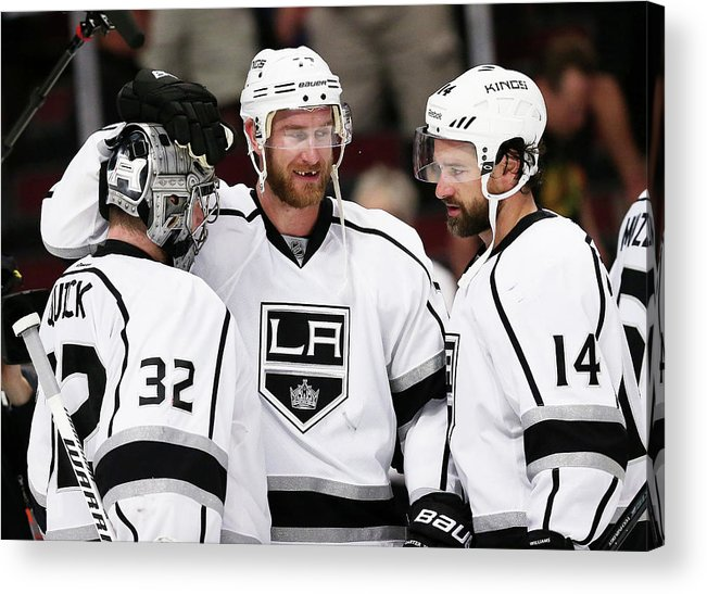 Playoffs Acrylic Print featuring the photograph Los Angeles Kings V Chicago Blackhawks by Jonathan Daniel