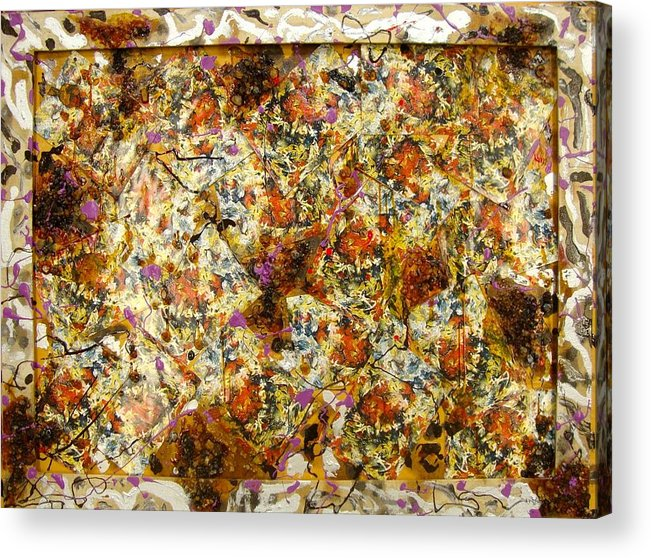Acrylic Print featuring the painting Materias assembled by Biagio Civale