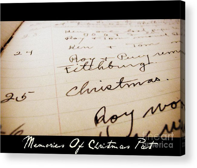 Vintage Acrylic Print featuring the photograph Memories of Christmas Past by Nancy Dole McGuigan
