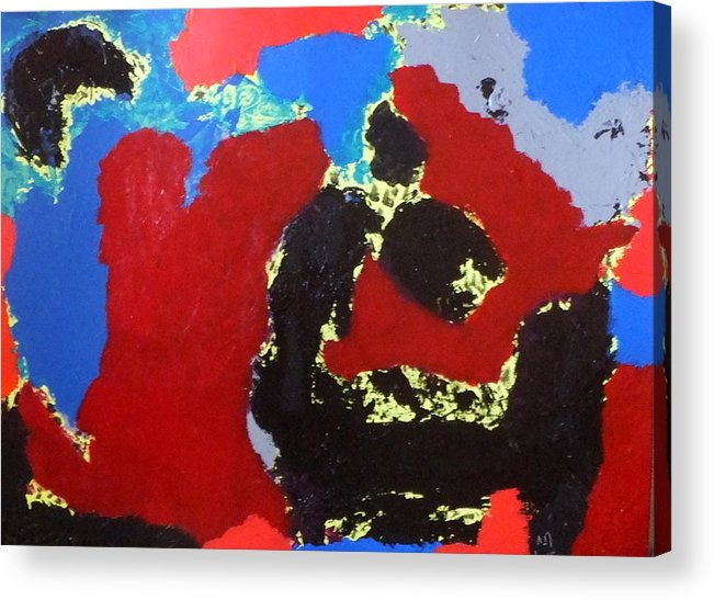 Abstract Acrylic Print featuring the painting No. 422 by Vijayan Kannampilly