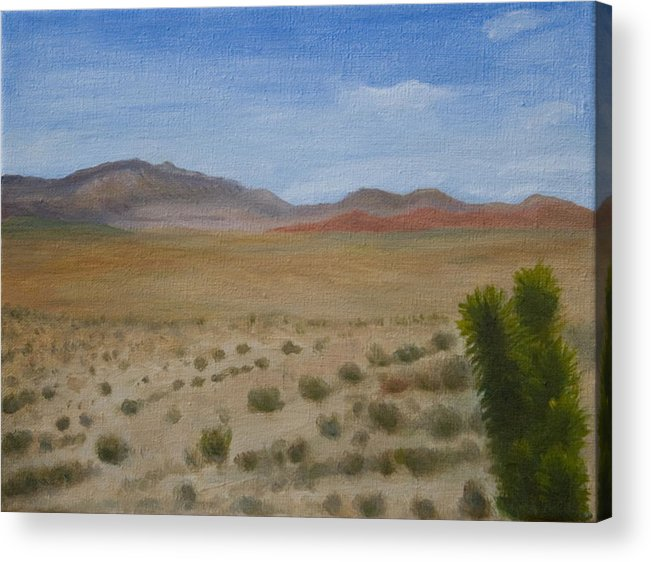 Landscape Acrylic Print featuring the painting Red Rock Canyon by Stephen Degan