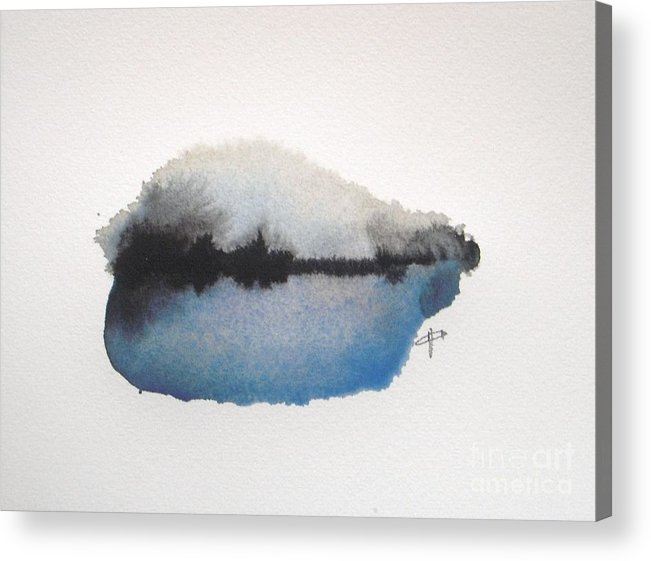 Abstract Acrylic Print featuring the painting Reflection in the lake by Vesna Antic