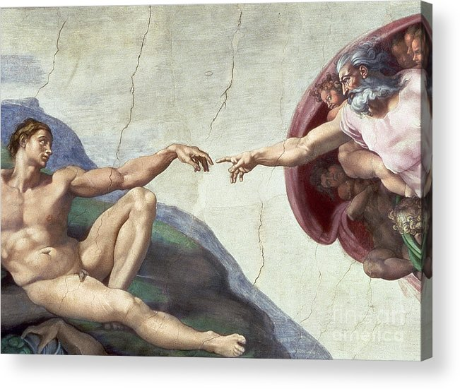 Renaissance Acrylic Print featuring the painting Sistine Chapel Ceiling by Michelangelo Buonarroti
