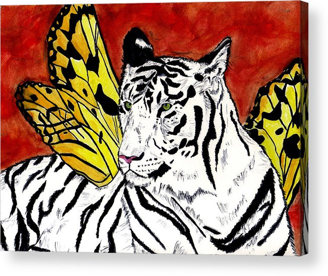 Tiger Acrylic Print featuring the painting Soul Rhapsody by Crystal Hubbard
