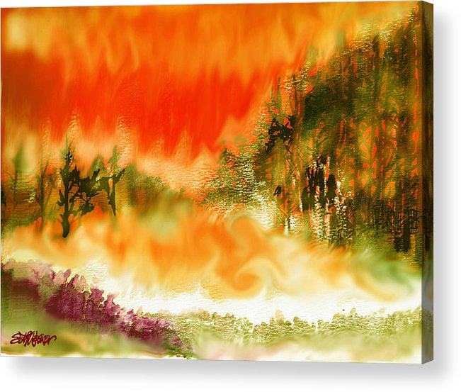 Timber Blaze Acrylic Print featuring the mixed media Timber Blaze by Seth Weaver