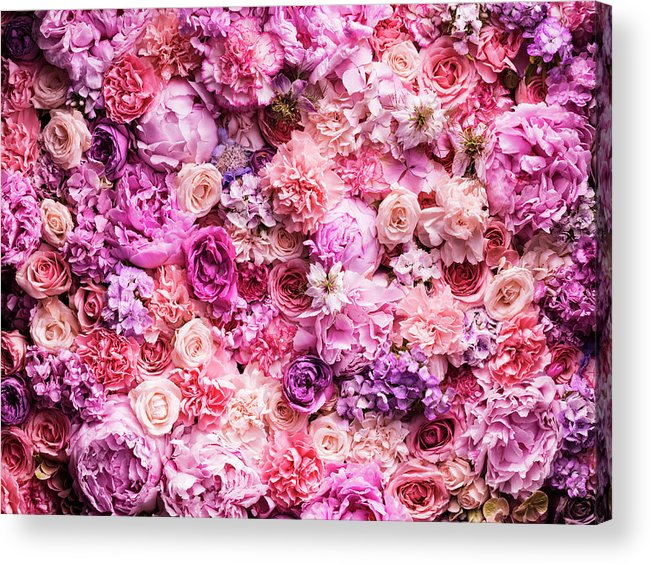 Tranquility Acrylic Print featuring the photograph Various Cut Flowers, Detail by Jonathan Knowles