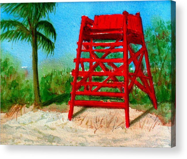 Beach Acrylic Print featuring the painting Off Guard by Pete Maier