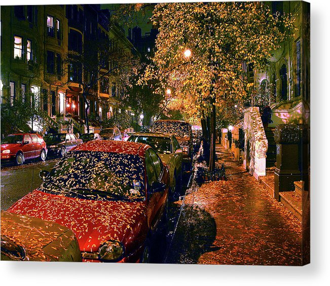 Autumn In Nyc Acrylic Print featuring the photograph Autumn in New York City by John Banegas