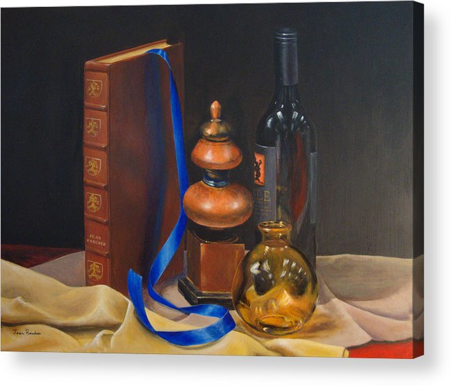 Book Acrylic Print featuring the painting Blue Ribbon by Jean Rascher