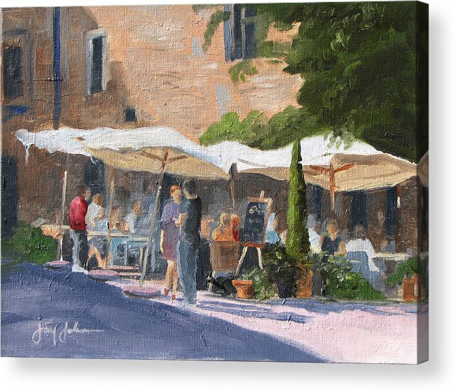 Landscape Acrylic Print featuring the painting Cafe Senna by Jay Johnson