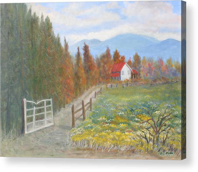 Acrylic Print featuring the painting Country Road by Ben Kiger