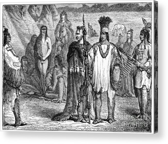 1813 Acrylic Print featuring the photograph Creek Indians, C1813 by Granger
