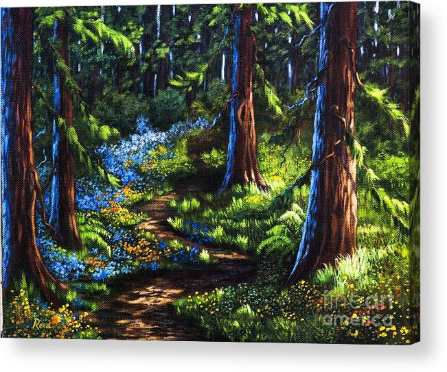 Landscape Acrylic Print featuring the painting Guardians by Patricia Reed