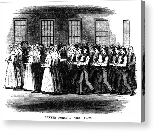 1875 Acrylic Print featuring the photograph Shaker Worship by Granger