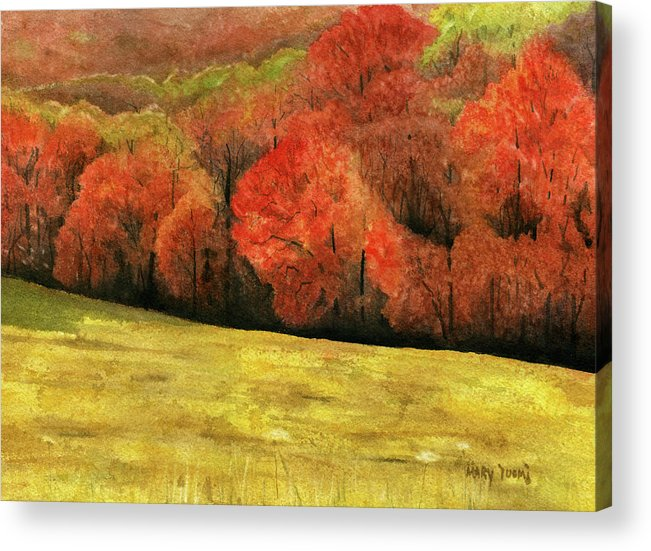 Autumn Acrylic Print featuring the painting Autumn Splendor by Mary Tuomi