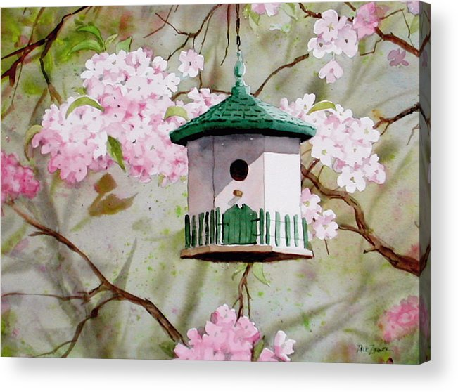 Birds Acrylic Print featuring the painting Cabin in the Sky by Faye Ziegler