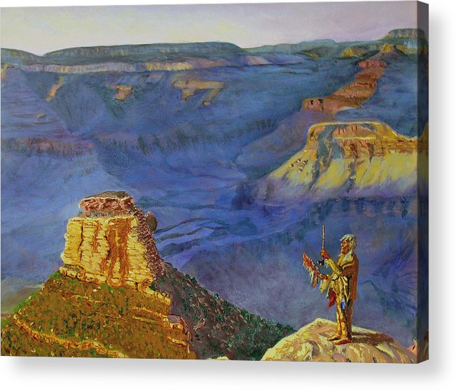 Grand Canyon Acrylic Print featuring the painting Grand Canyon V by Stan Hamilton