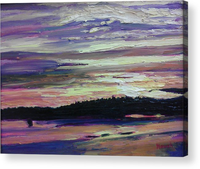 Maine Acrylic Print featuring the painting Maine Sunset by Richard Nowak
