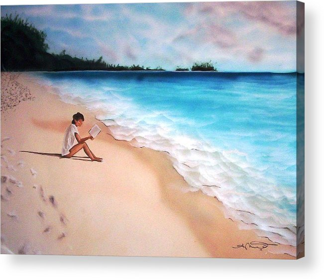 Angela Mustin Acrylic Print featuring the mixed media Totalsolitude by Angela Mustin